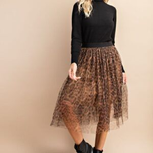 Cheetah Midi Skirt