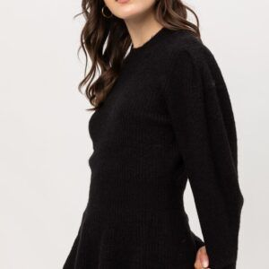 Tweed Peplum Sweater